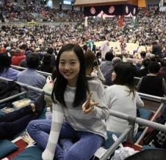 真凜が大相撲初観戦「琴バウアー見れてうれしかった」