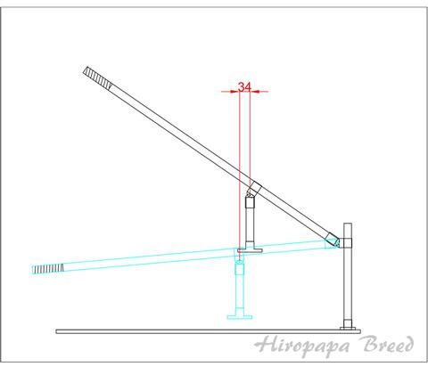 自作プレス機軸ずれ寸法-1