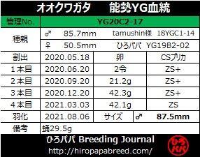 YG20C2-17ラベル