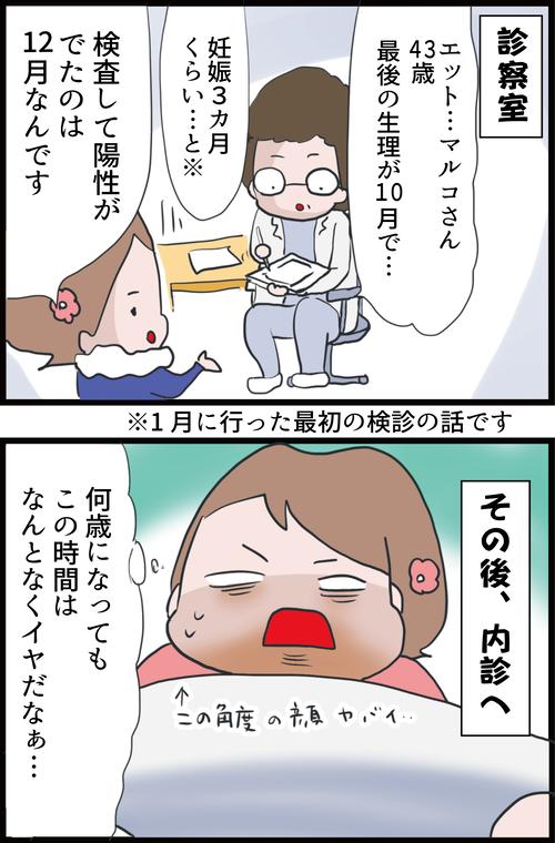 【妊娠4カ月】初めての妊婦検診!医師に言われた衝撃の事実…!(妻の高齢妊娠編18)2