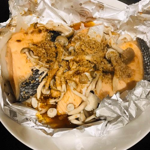 鮭のホイル味噌焼き5