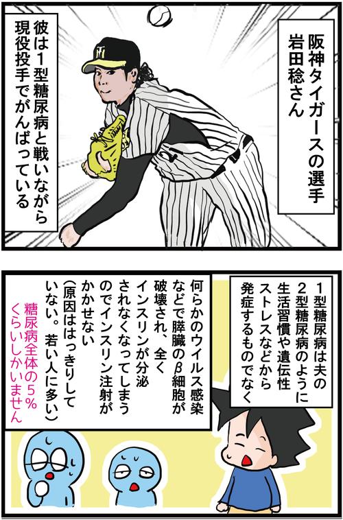 血糖値コントロールしながら戦うアスリート岩田稔選手に感動!1