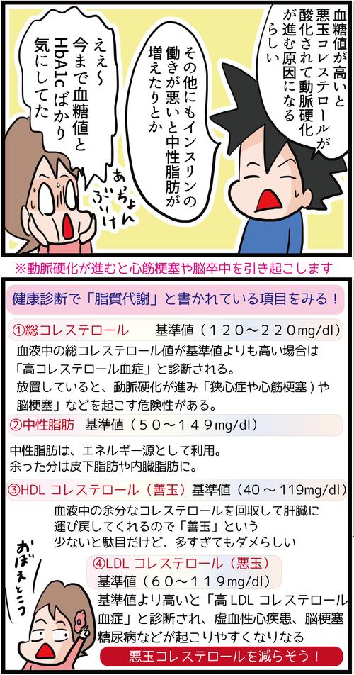 【血糖値改善】コレステロール値が高い糖尿病患者のリスクとは…?!2