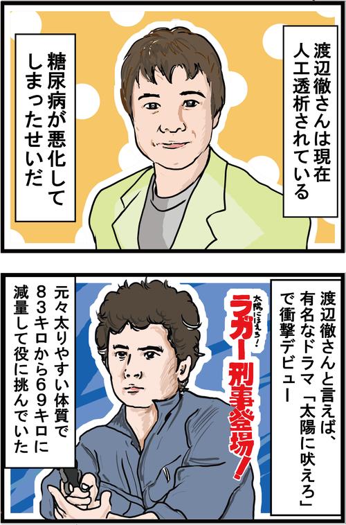 【糖尿病が悪化】人工透析となってしまった渡辺徹さん…1