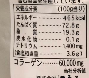 鮭皮チップ成分