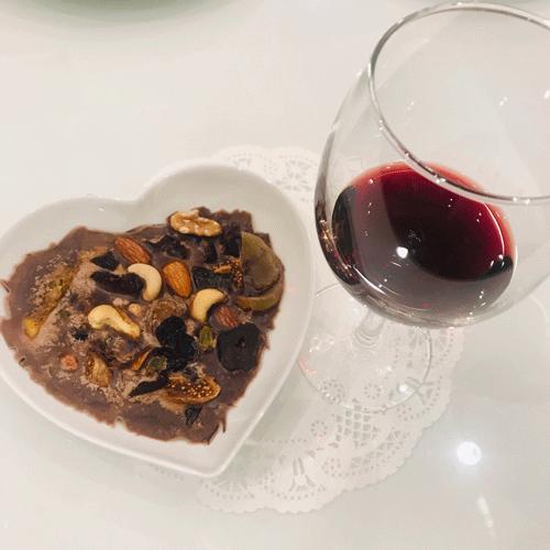赤ワインとチョコ