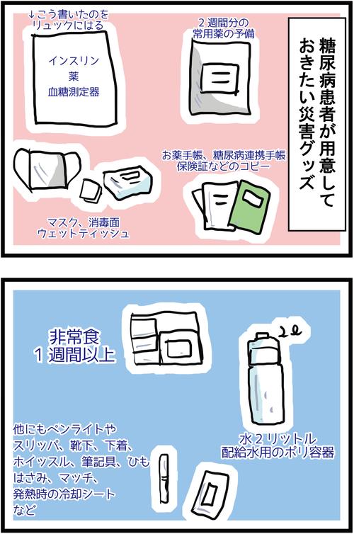 【血糖値対策】東日本大震災の記憶と糖尿病患者の災害への備え(その2)3
