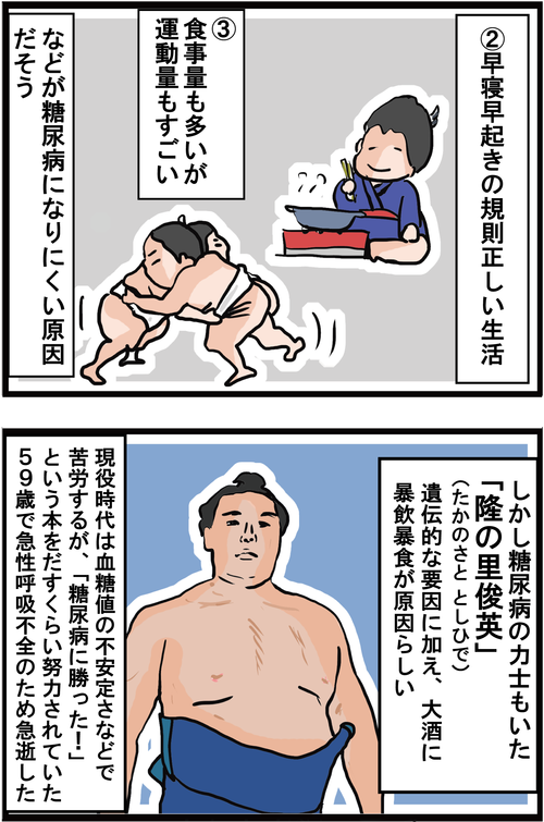 【血糖値】意外な事実!相撲取りに糖尿病が少ない理由とは・・?!3