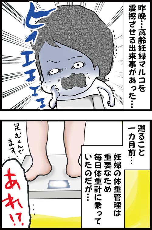 【妊娠5カ月】高齢妊婦、久々に乗った体重計の数値に震撼する…(妻の高齢妊娠編㉕)1
