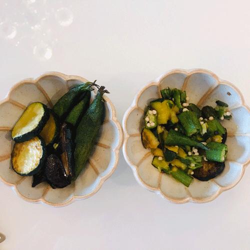砕いた夏野菜