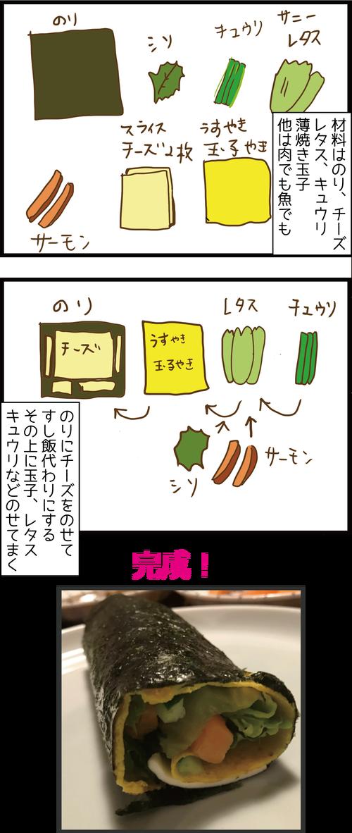 糖質オフ恵方巻の作り方2