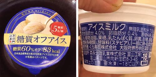 糖質オフアイスくら寿司