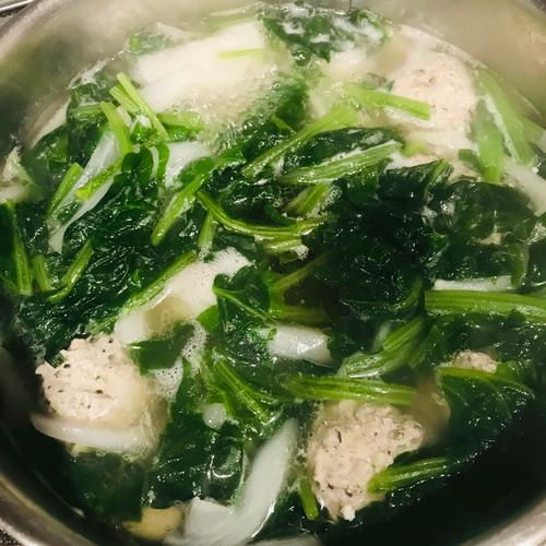 ほうれん草中華スープ