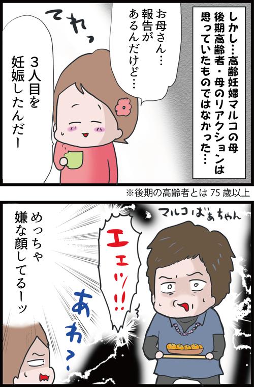 【妊娠4カ月】高齢妊婦、高齢実母へ妊娠報告もバトル勃発…!?(妻の高齢妊娠編⑮)2