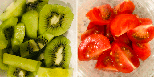 キウイとトマト