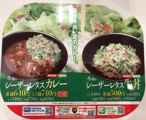 サラダレタス牛丼