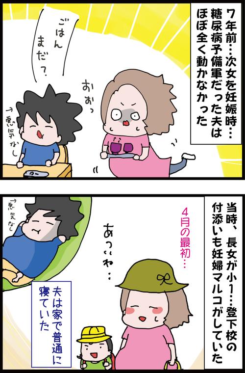 【2人目出産編②】なるべくして糖尿病になった…!?当時の夫の動かなさ…1