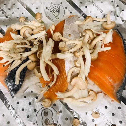 鮭のホイル味噌焼き1
