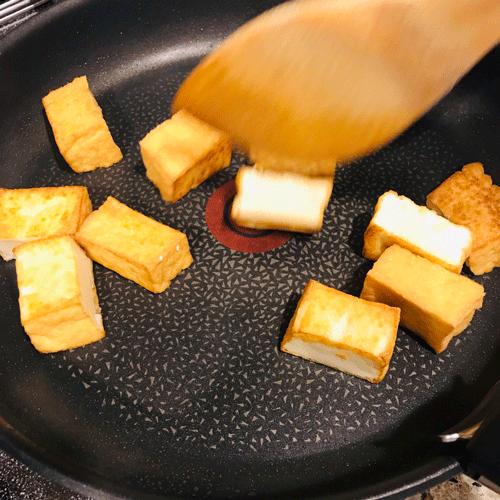 焼きナス厚揚げ豚しゃぶ酢醤油和え1