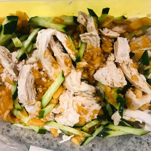 鶏むね肉低糖質棒棒鶏