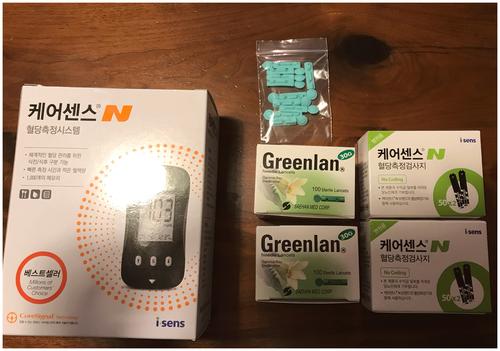 韓国製血糖値測定器
