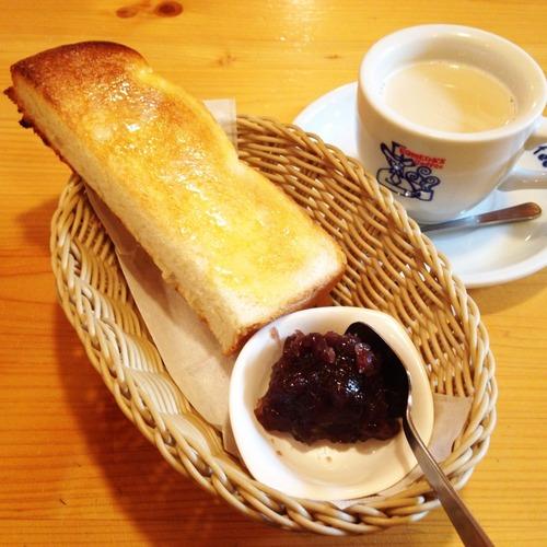 コメダの小倉トースト