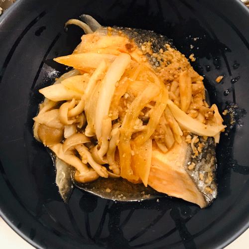 鮭のホイル味噌焼き完成