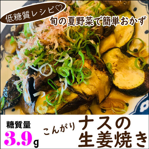 ナスの生姜焼き1