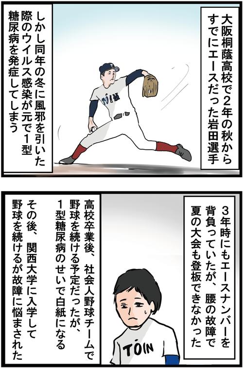 血糖値コントロールしながら戦うアスリート岩田稔選手に感動!2