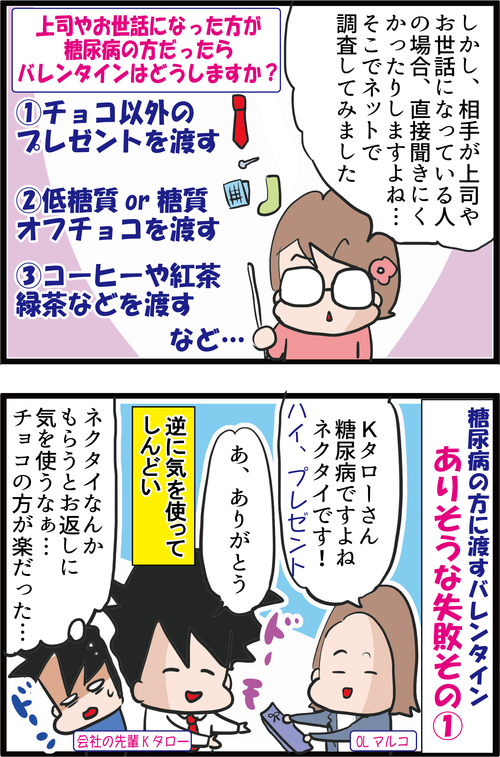 【血糖値】糖尿病(予備軍)の人にはバレンタインに何をあげたらいい…?2