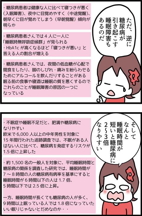 【恐怖】睡眠不足で糖尿病悪化?!4