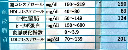 糖尿病発覚時のコレステロール値と中性脂肪