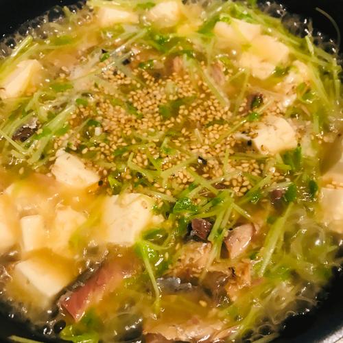 サバ醤油缶豆苗2