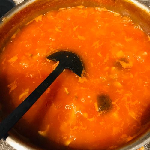 レタスのトマトスープ2