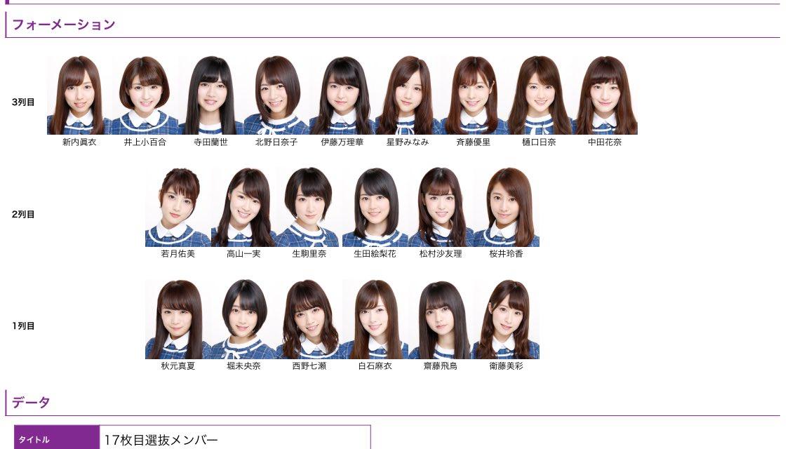 枚 選抜 シングル 25 目 乃木坂 乃木坂46!25枚目シングル選抜発表