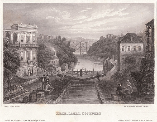 Erie_canal_lockport_c1855