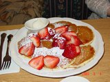 strawbery pancake