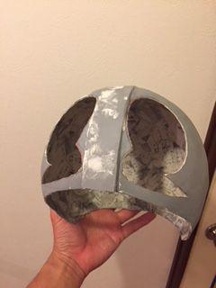 仮面ライダーマスク作成 くり抜き