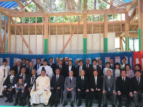 田中山神社 上棟祭 記念写真