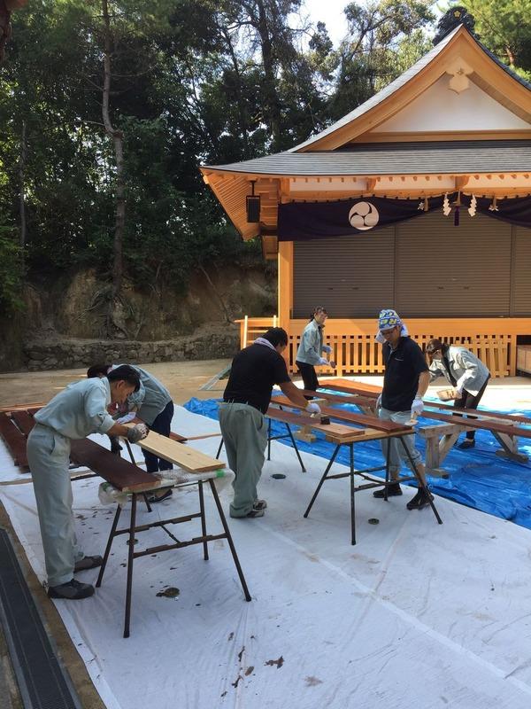 橋本建設 社員で塗装 工務店 広島