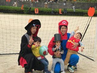 サッカー ハロウィン仮装練習