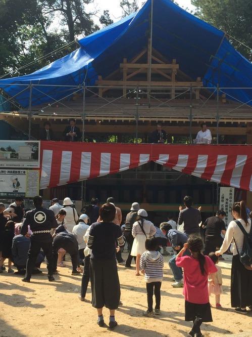 田中山神社 もちまき