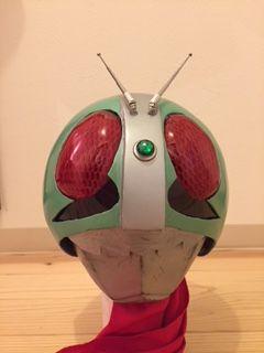 手作り 仮面ライダーマスク 完成