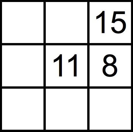 こんな感じの升目に数字が ... : 算数 問題 : 算数