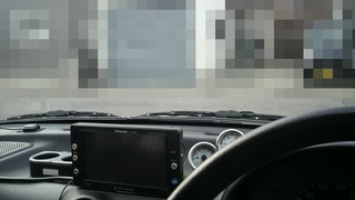運転席からの見た目交換前