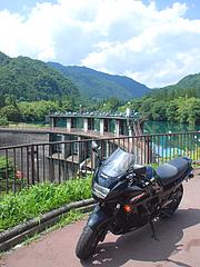 中之条ダムとGPZ1100