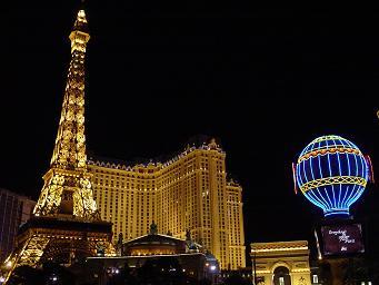 ラスベガス パリスホテル 夜景 画像