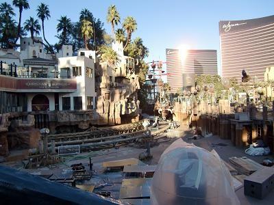 ラスベガス TIホテル 工事中の海賊船カリブ海