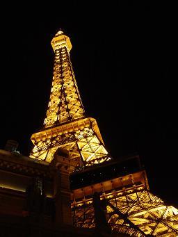ラスベガス パリスホテル エッフェル塔 ここからラスベガスの夜景を楽しめる