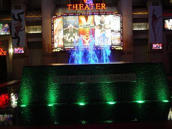 ラスベガス プラネットハリウッドホテル ミラクルマイルショップス 噴水ショー